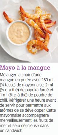 mayo à la mangue